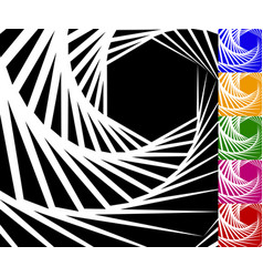 abstract background set with concentric rotating vector image