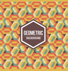 Abstract geometric background for design retro vector