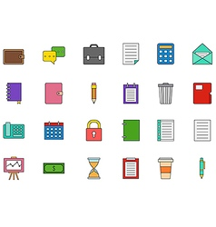 Accounting colorful icons set vector image