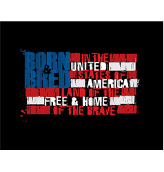 american text flag - land free home the vector image