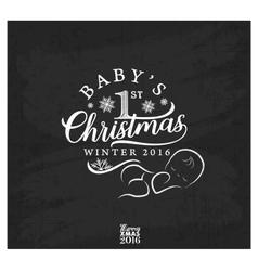 Baby First Christmas Design Element vector