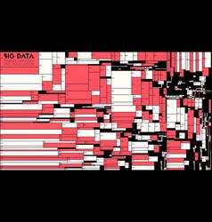 big data red blocks visualization futuristic vector image