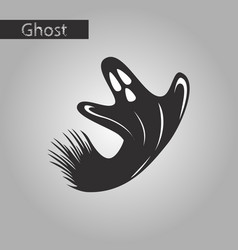 Black and white style icon of ghost vector