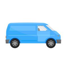 Blue cargo minivan on a white vector
