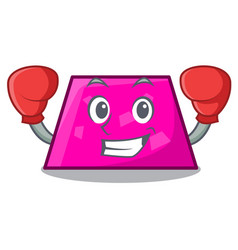 boxing trapezoid character cartoon style vector image