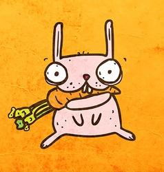 Bunny Eating Carrot Cartoon vector