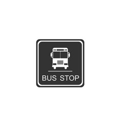 bus stop sign isolated flat design vector image