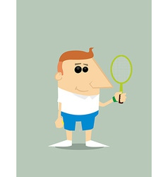 Cartoon tennis player vector image