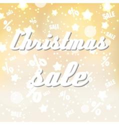 Christmas sale colorful yellow night stars vector