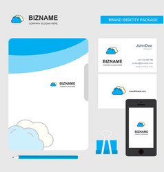 clouds business logo file cover visiting card and vector image
