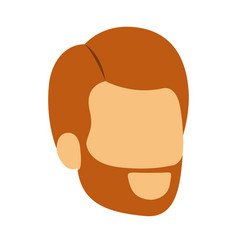 Colorful silhouette of man faceless with red hair vector