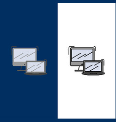 Computer business laptop macbook technology icons vector