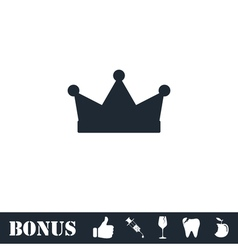 Crown icon flat vector image