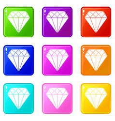 Diamond set 9 vector