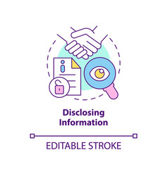 Disclosing information concept icon vector