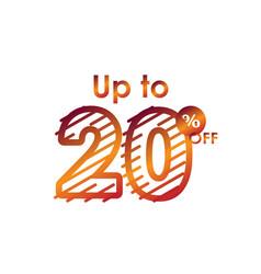 Discount up to 20 off label sale line gradient vector