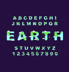 earth day font vector image