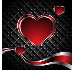 Elegance valentine card vector