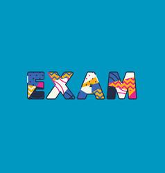 exam concept word art vector image