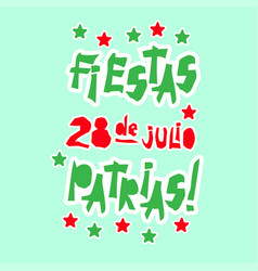 Flat fiestas patrias design card with text fiestas vector