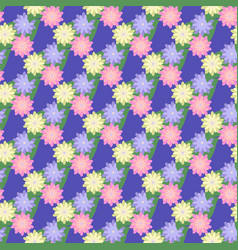 Flower and leaf seamless pattern vector