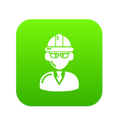 Foreman icon green vector