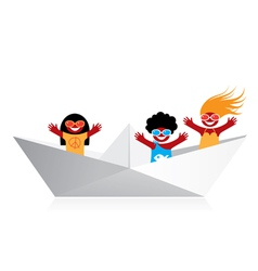 friendship boat vector image