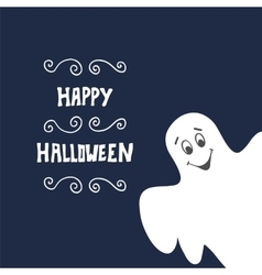 Halloween background with ghost vector