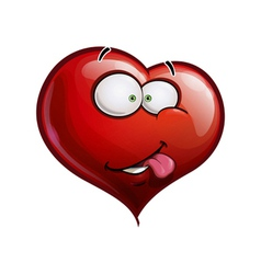 Heart Faces Happy Emoticons I Really Like You vector image