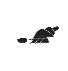 hermit crab black concept icon hermit crab vector image