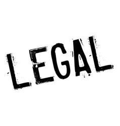 Legal stamp rubber grunge vector