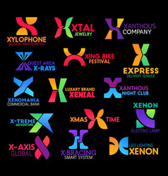 Letter x corporate identity creative colorful sign vector