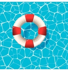 Lifebuoy on the water surface vector