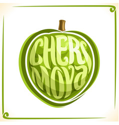 Logo for cherimoya fruit vector