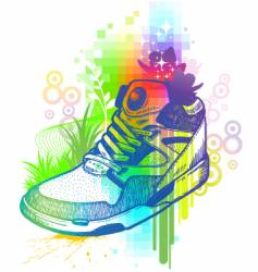 magic boot vector image