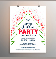 merry christmas white party flyer design template vector image