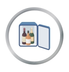 Mini-bar icon in cartoon style isolated on white vector