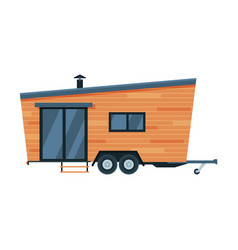 modern mobile home for summer trip family tourism vector image