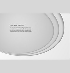 modern simple oval gray and white background vector image