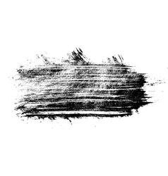 Monochrome black grunge stain vector
