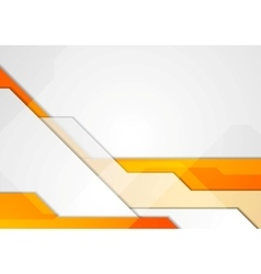 Orange grey abstract hi-tech motion background vector