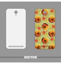 Phone Cover Autumnal Pumpkin vector