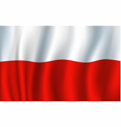 poland 3d flag background national symbol vector image