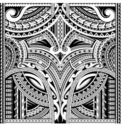 Polynesian ornament suitable for sleeve tattoo vector