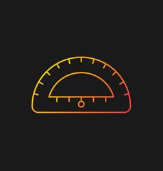 Protractor gradient icon for dark theme vector