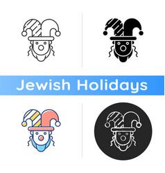purim celebration icon vector image