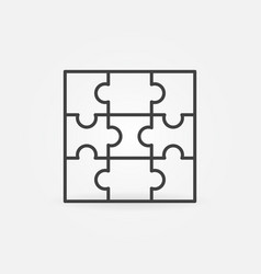 puzzle with nine pieces linear concept icon vector image