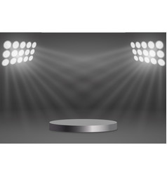 round podium illuminated vector image