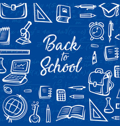 school supplies student notebook pencil book vector image