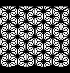 Seamles geometric ornament based kumiko in black vector